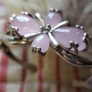 Pink jade cuff Carolyn Pollack NWT